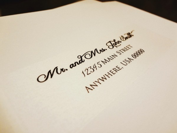 Address Labels For Wedding Invitations Clear Address Labels For