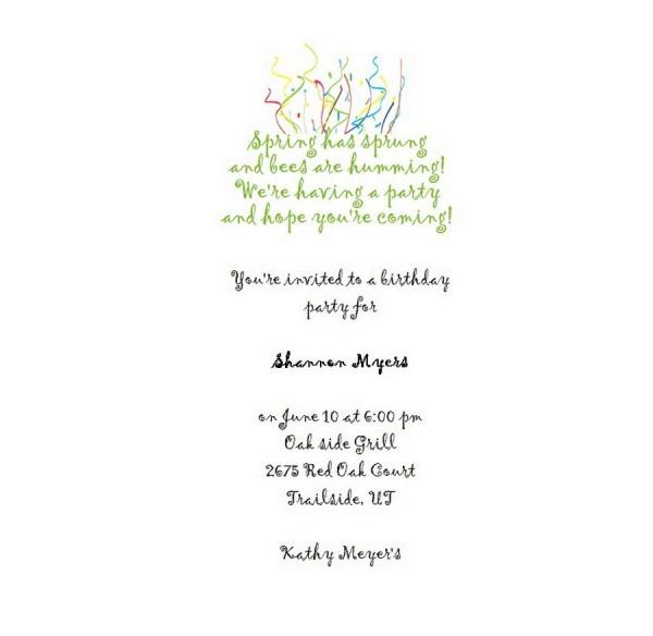 Adult's 21st Birthday Invitation 3 Wording