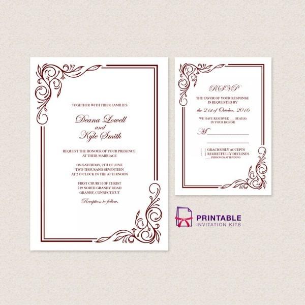 Wedding Invitation Templates Free Pdfs