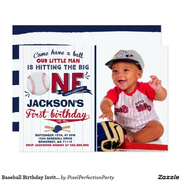 Baseball Birthday Invitation Baseball 1st Birthday  A Perfect Way