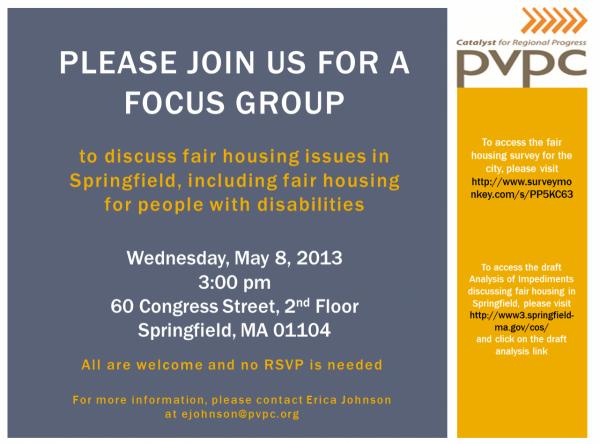 Springfield Fair Housing Focus Group