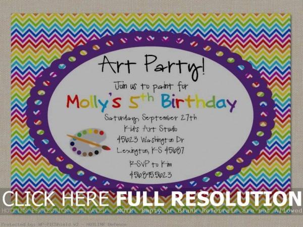 Art Party Invitation Templates