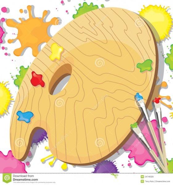 Art Painting Party Invitation Stock Illustration