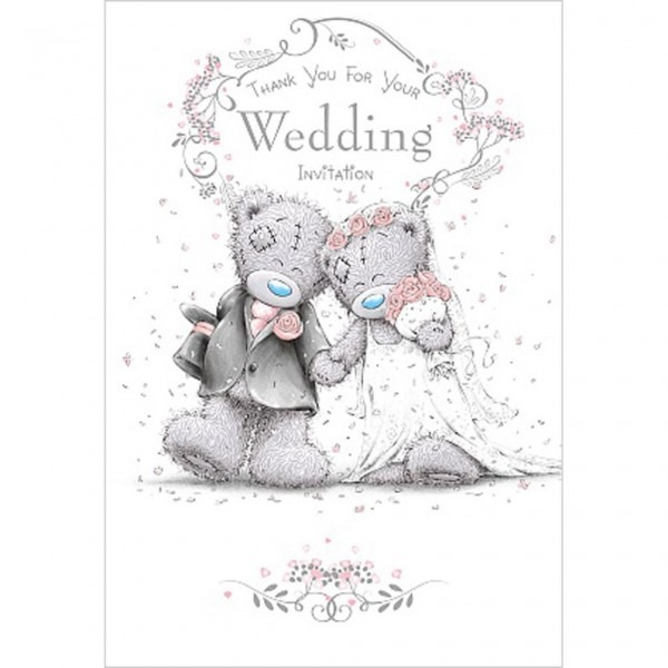 Thank You Wedding Invitation Me To You Bear Wedding Day Card