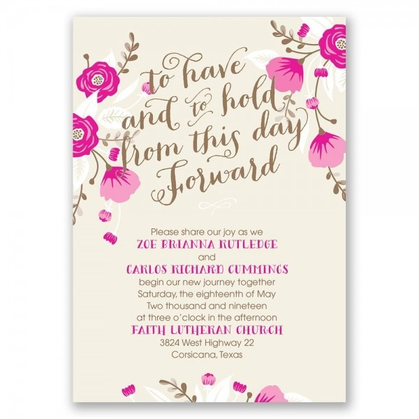 To Have And To Hold Wedding Invitation