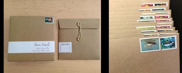 Brown Square Envelope