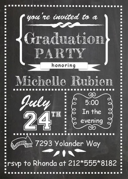 Graduation Party Invitations ~ High School Or College Graduation