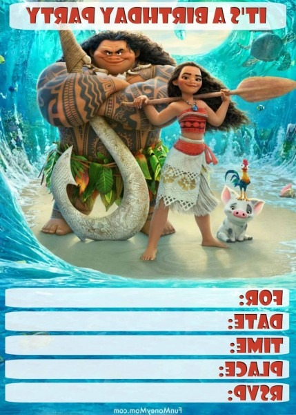 Large Size Of Baby Moana Invitation Template Free Invitations