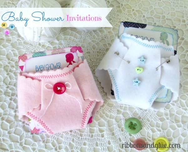 Baby Shower Diaper Invitations From Ribbonsandglue To Get Ideas