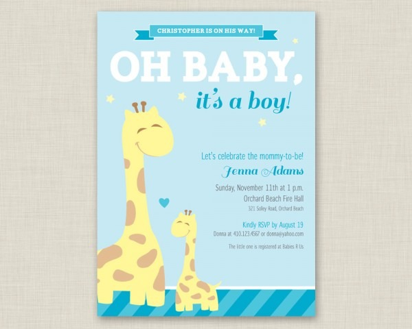 Baby Shower Invitations For Boys Free Templates Shower Pan