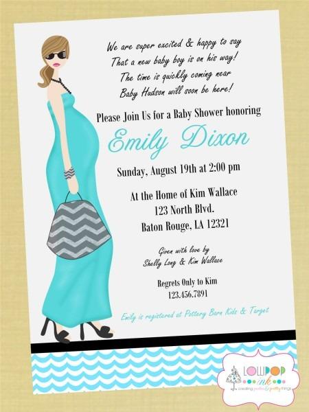 Baby Shower  Baby Shower Invitation Wording  Coed Baby Shower