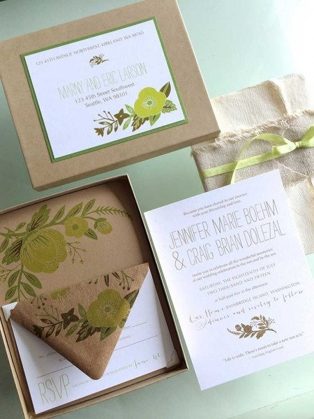 30+ Organic Wedding Invitations
