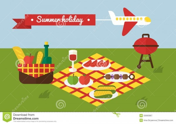 Bbq Party  Barbecue Summer Picnic  Invitation Stock Vector