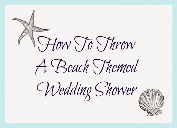Beach Themed Bridal Shower Invitations Beach Themed Bridal Shower