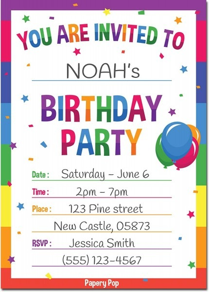 Birthday Invitations Examples Invitation Format For Whatsapp Text
