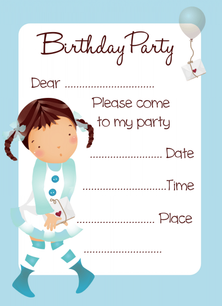 Printed Party Invites