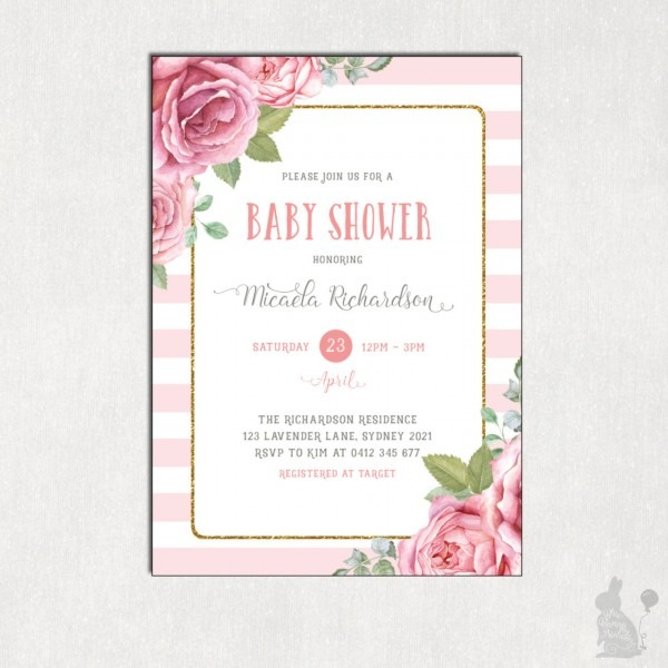 Baby Shower  Lavender Baby Shower Invitations  Baby Shower