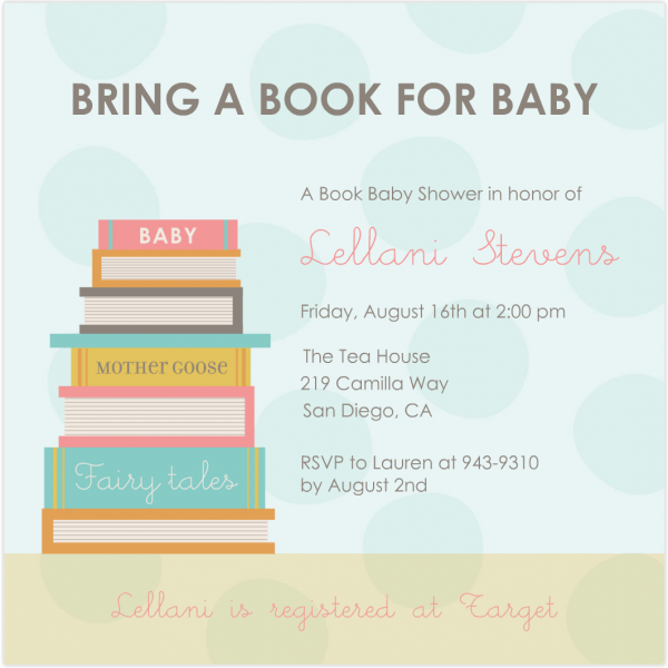Book Baby Shower Invitation From I Is Chic Ideas Which Can Be