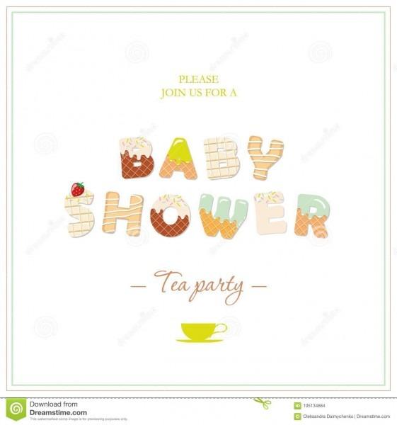 Boy Baby Shower Tea Party Invitation Design  Sweet Decorative