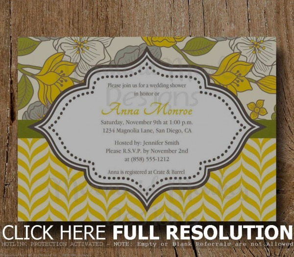 Lunch Invitations Samples