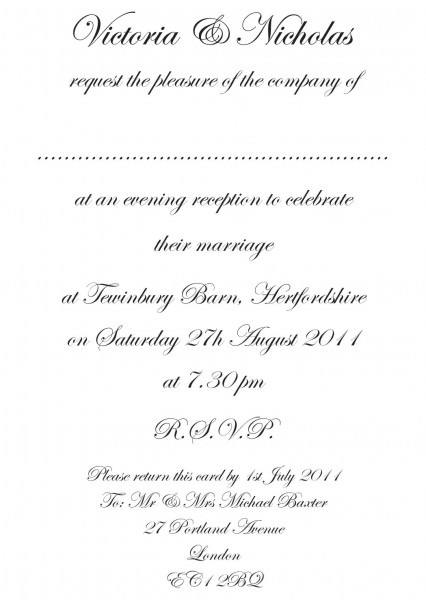 Brilliant Wedding Invitation Text Wedding Invitation Etiquette And