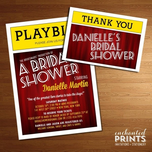 Broadway Playbill Invitation