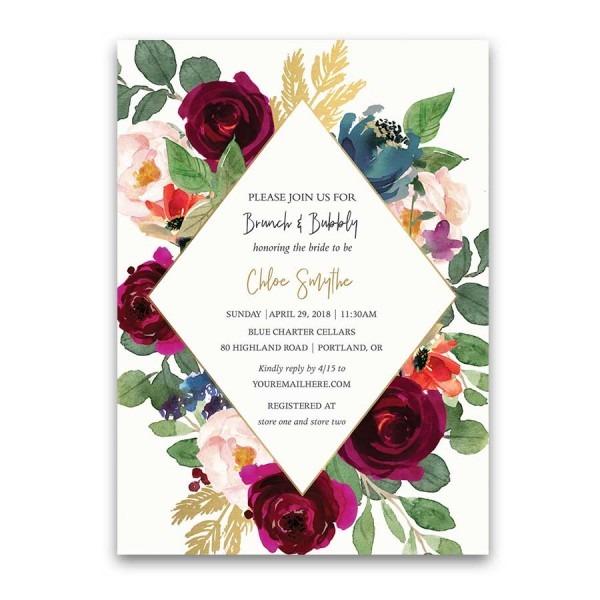 Bridal Shower Invitations Custom Designed And Inexpensive