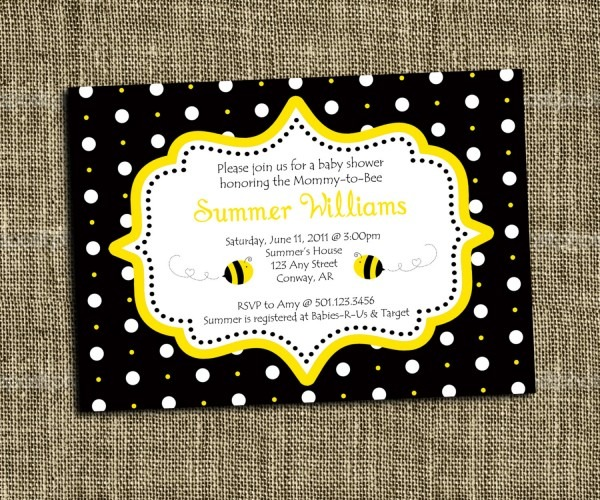 Bumble Bee Baby Shower Invitations Bumble Bee Baby Shower