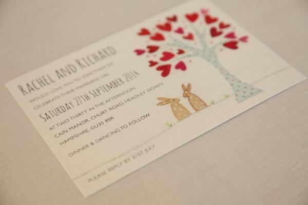 Introducing  Bunnies Wedding Invitation