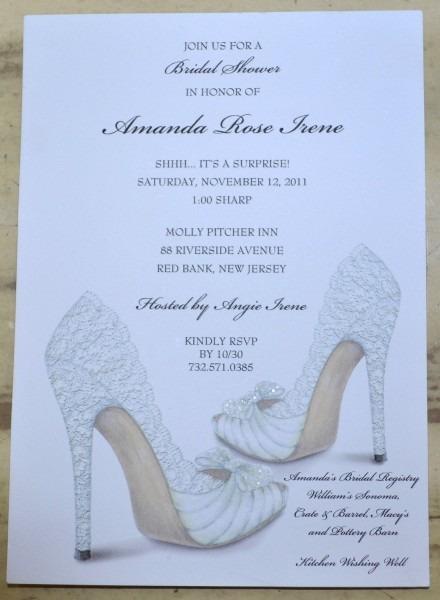 Bridal Shower Invitations Shoe Theme Bridal Shower