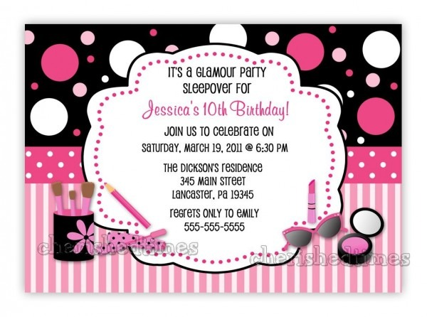 Download Free Template 10th Birthday Party Invitation Wording