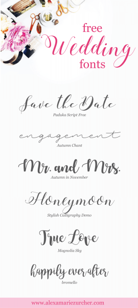 Free Wedding Fonts, Free Calligraphy Fonts, Free Script Fonts