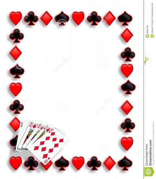 Cards Poker Border Royal Flush Stock Illustration