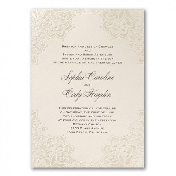 Invitations   Carlson Crafts Wedding Invitations Fresh Craft