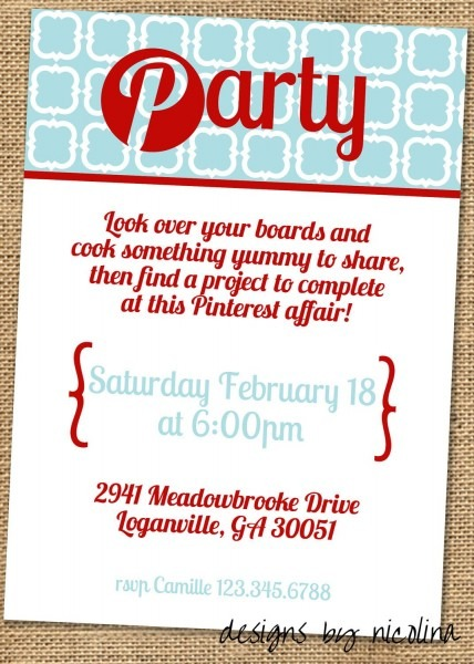 A Pinterest Party  Pin For A Future Event