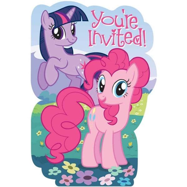 My Little Pony Friendship Is Magic Birthday Girl Party Invitation
