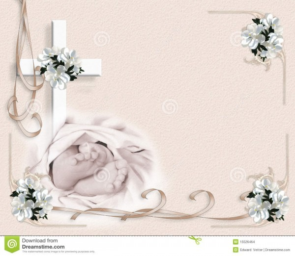 Christening Baptism Invitation Stock Illustration