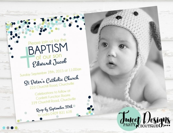 Christening Invitation Boy From Invitations Party And Get