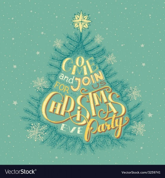 Christmas Eve Party Invitation Royalty Free Vector Image