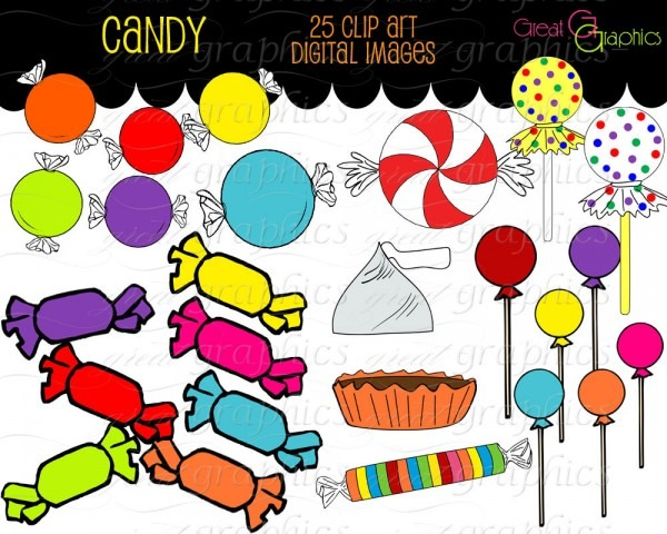 Clip Art Of Different Candy Clipart
