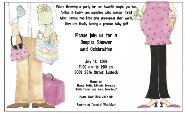 Baby Shower  Baby Shower Invitation Wording  Coed Baby Shower