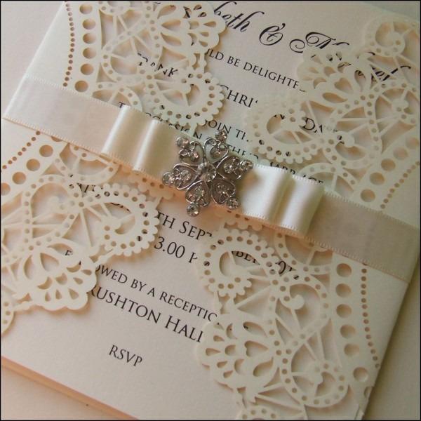 Cream And Ivory Wedding Invitations