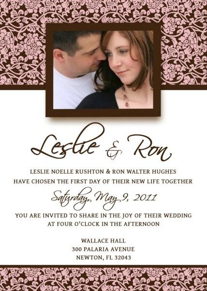 Fantastic Wedding Invitation Email