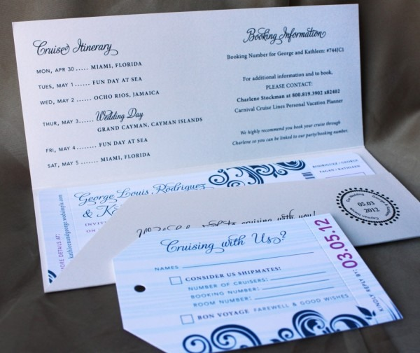 Cruise Wedding Invitations From Kinderhooktap And Get Inspiration