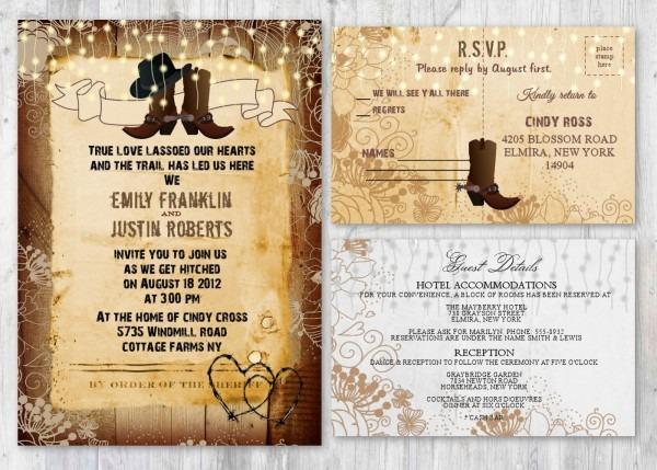 Western, Rustic Wedding Invitations, Cowboy Boot Boots Wedding