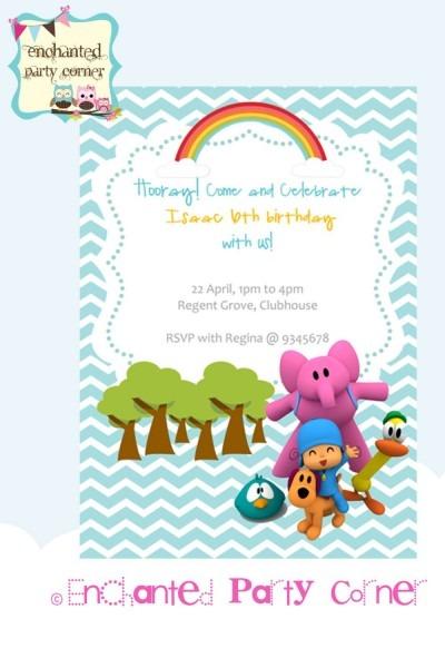 Pocoyo Birthday Invite