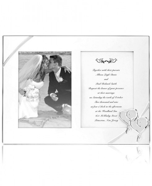 Closeout! Lenox Picture Frame, True Love Double Invitation Frame