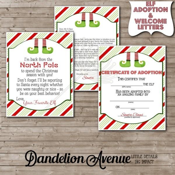 Magic Little Shelf Elf Welcome Letter & Adoption Certificate
