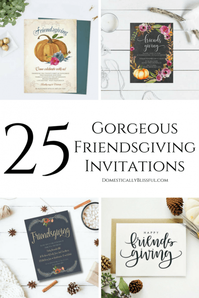 25 Gorgeous Friendsgiving Invitations