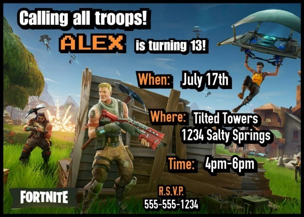 Fortnite Party Invitations! Invitationsbykasey Etsy Com